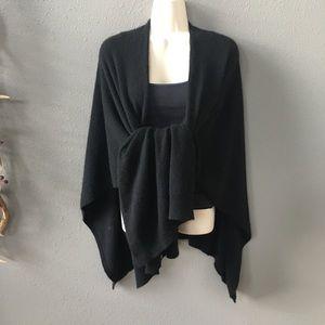 Cashmere CHARTER CLUB Luxury one size black shawl